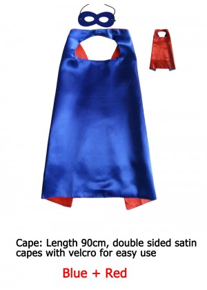 Kids Double sided Cape Mask Costume set