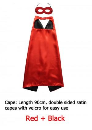 Kids Double sided Cape Mask Costume set