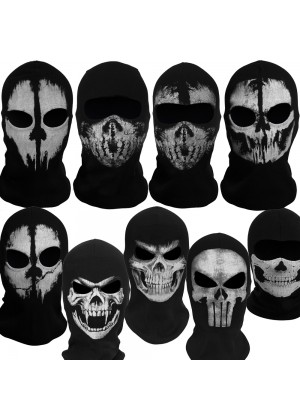 Ghost Skull Balaclava Skeleton Full Face Biker Mask