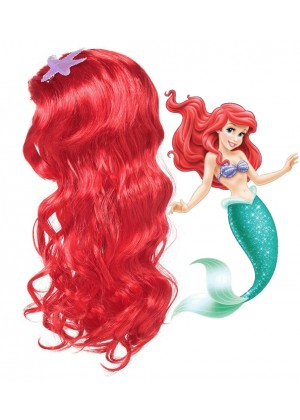 Girls Little Mermaid Princess Ariel Wigs tt1147