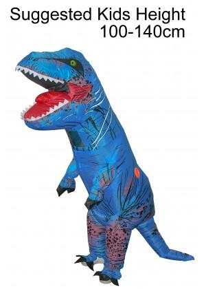Child Blue T-REX Costume