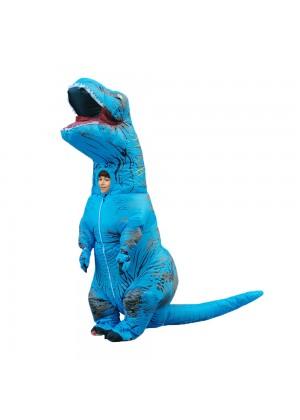 blue Kids T-Rex Blow up Dinosaur Inflatable Costume 2001nkidblue