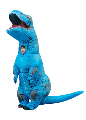 blue Kids T-Rex Blow up Dinosaur Inflatable Costume 2001nkidblue