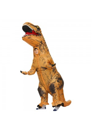 Brown Child T-Rex Blow up Dinosaur Inflatable Costume tt2001nkid-6
