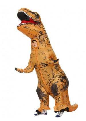 Brown Child T-Rex Blow up Inflatable Costume tt2001nkid-1