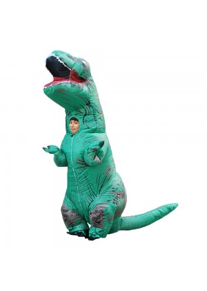 Green Kids T-Rex Blow up Dinosaur Inflatable Costume 2001nkidgreen