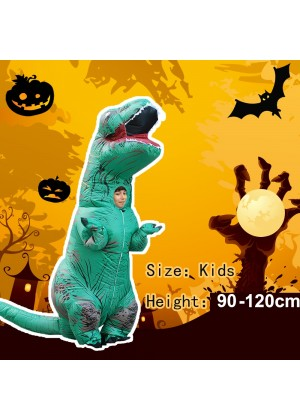 Green Kids T-Rex Blow up Dinosaur Inflatable Costume