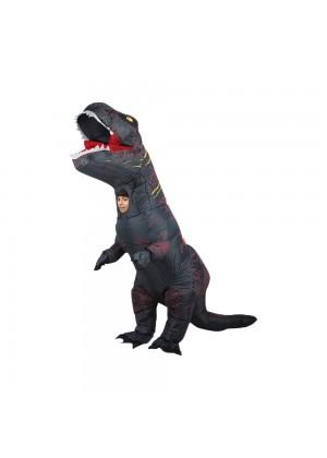 Grey Kids T-Rex Blow up Dinosaur Inflatable Costume 2001nkidgrey