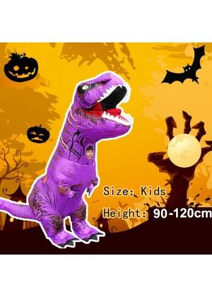 Purple Kids T-Rex Blow up Dinosaur Inflatable Costume