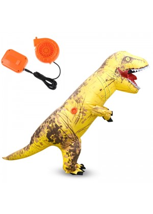 Yellow ADULT T-REX INFLATABLE Costume Jurassic Blowup Dinosaur TRex T Rex