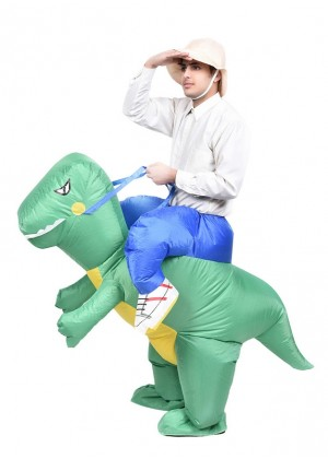 Dinosaur t-rex carry me inflatable costume 2017-1