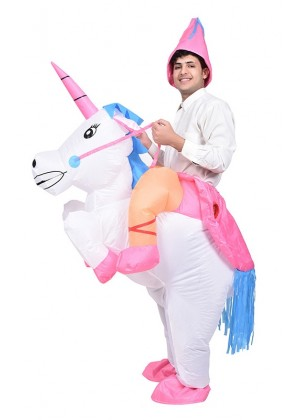 Adult Unicorn carry me inflatable costume