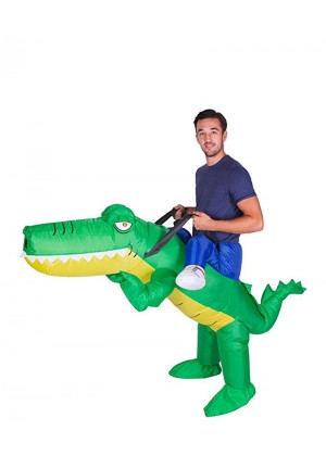 Adult Crocodile alligator carry me inflatable costume