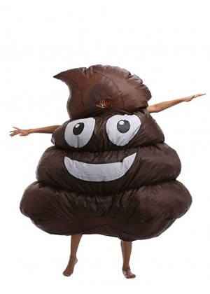 Adult Poo Poop carry me inflatable costume