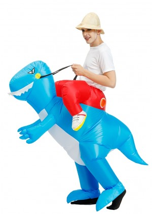 Adult Red Dinosaur t-rex Blow Up inflatable costume tt2022-1