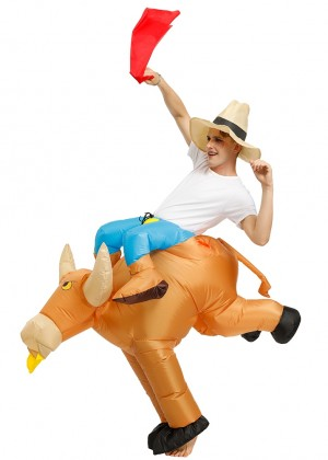 Adult Bull carry me inflatable costume