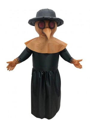 Bird Plague Doctor carry me inflatable fun costume front tt2037