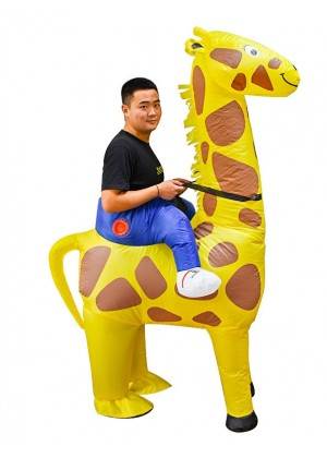 Adult Giraffe Carry Me Inflatable Costume