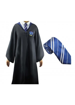 Ravenclaw Boys Girls Harry Potter Kids Robe Tie Costume Cosplay