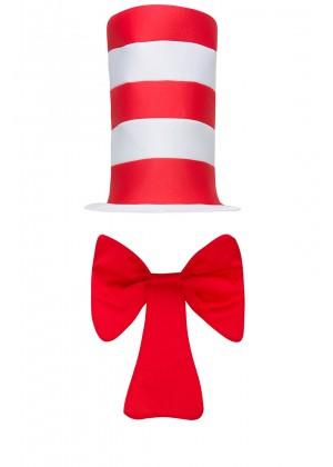 Adult Stripe Cat in the Hat Bow Tie Children Accessories Boys Girls Book Week Dr Seuss