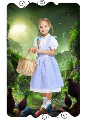 Dorothy The Wizard of Oz Girls Costume Book Week Fancy Party Dress Kids Child