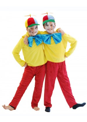 Tweedle Dee Dum Kids Costume + Propeller Hat