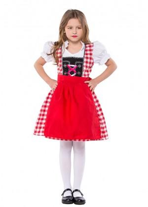Bavarian Oktoberfest Beer Maid German Fancy Dress Up Girls Costume Kids Book Week