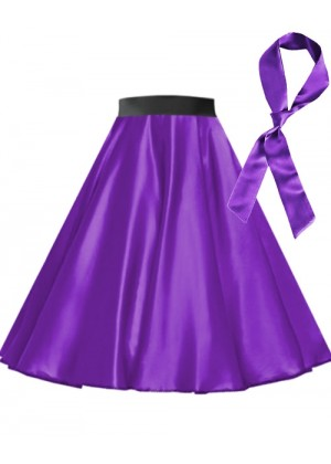 Purple Satin 1950's 50s skirt