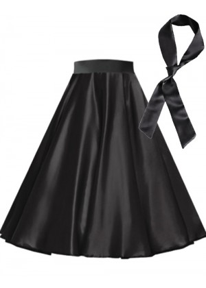 Black Satin 1950's skirt