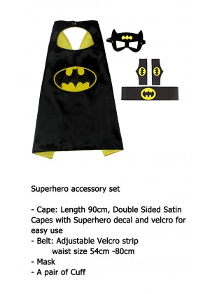 Batman Cape & Mask Costume set Superhero