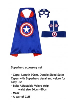 Captain America Cape & Mask Costume set Superhero