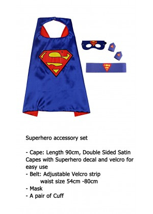 Superman Cape & Mask Costume set Superhero