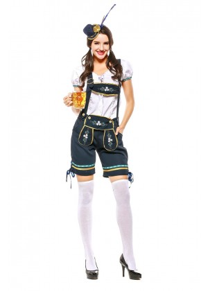 Ladies Beer Maid lederhosen Costume