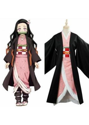 Ladies Nezuko Kamado Costume with Wigs tt3141