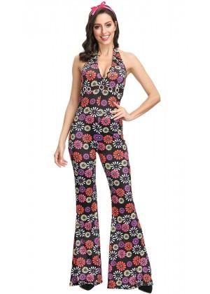 Girls 60s 70s Retro Hippie Costume tt3150