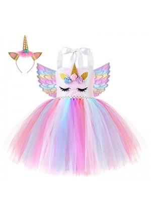 Girls Unicorn Tulle Tutu Dress tt3159