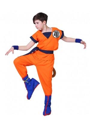 Children Dragon Ball Z Goku Costume + Wig