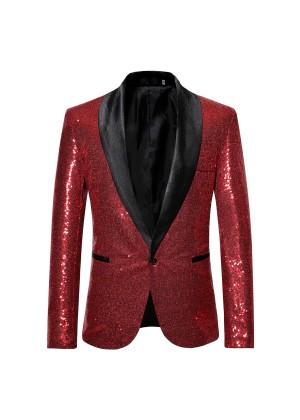 Red Tuxedo Suit Jacket Costume tt3182