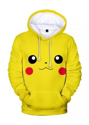 Adult Anime Pokemon Pikachu Hoodie tt3187-1