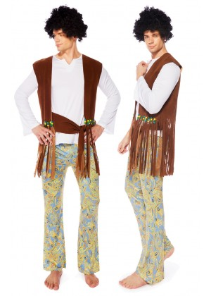 Mens Orion Hippie 70s Costume tt3190