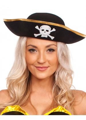 Pirate Costumes - Pirate Hat Pirates Of The Caribbean Captain Jack Sparrow PRESTIGE Buccaneer Costume Accessories 1