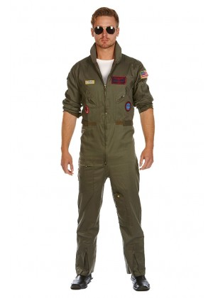Aviator Costume Pilot Flight 80's Film Suit Pete Mitchell Maverick