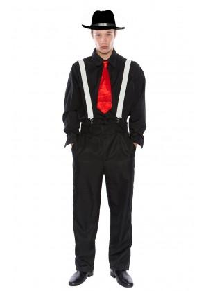 Mens 1920s Gangster Pinstripes Pimp Suit Halloween Fancy Dress Up Costume