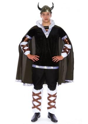 Mens Viking King Battle Warrior Mens Adult Fancy Dress Halloween Costume