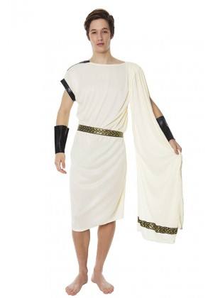 Roman Greek Costumes - Caesar Adult Roman Greek Julius Toga Costume Fancy Dress Halloween Outfit