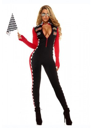 Ladies Car Racer Racing Sport Driver Costume