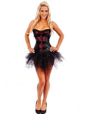 Black Feather Burlesque Corset Tutu skirt