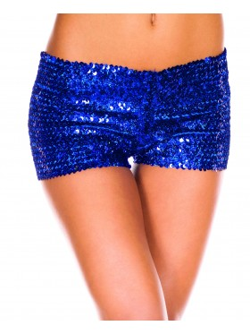 Blue Sequin short Ladies