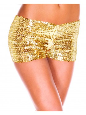 Gold Sequin short Ladies