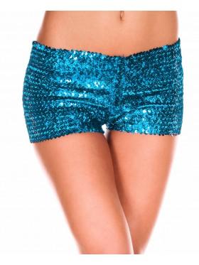 Light blue Sequin short Ladies